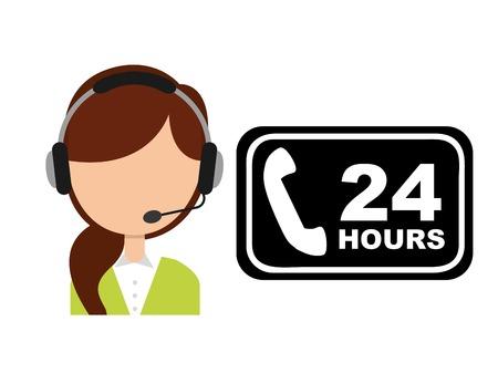 centre: customer service design, vector illustration  graphic