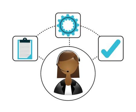 callcenter: customer service design, vector illustration  graphic