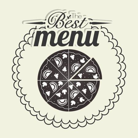 pizzeria label: Pizza italian food graphic design, vector illustration eps10 Illustration