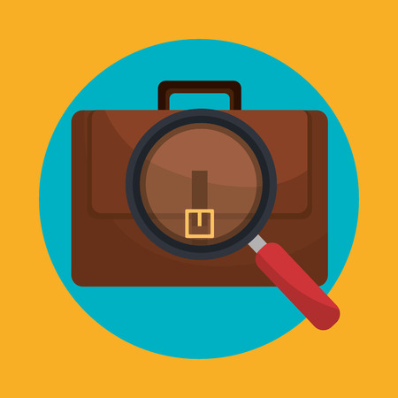 business briefcase: business briefcase icon graphic design, vector illustration eps10