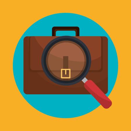 business briefcase icon graphic design, vector illustration eps10