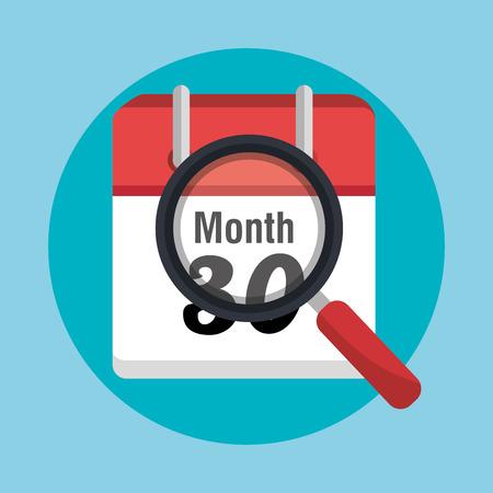 end month: End of month calendar icon graphic design, vector illustration eps10 Illustration