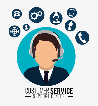 customer support: Customer service and technical support graphic design, vector illustration eps10