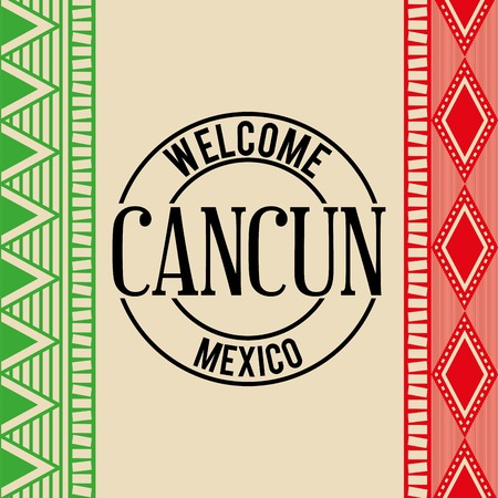 cancun: mexican culture design, vector illustration eps10 graphic Illustration