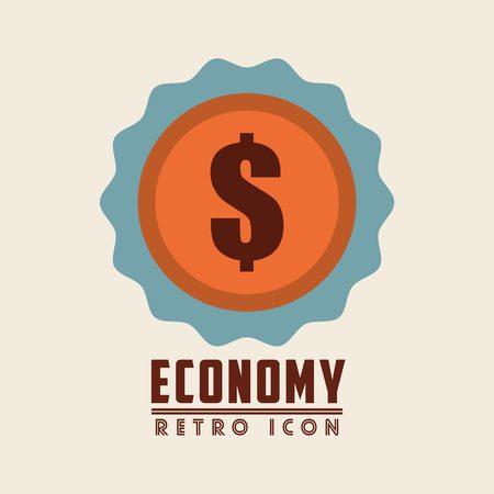 money symbol: retro icon design, vector illustration eps10 graphic Illustration