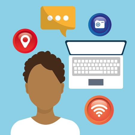 socialising: Los medios sociales y el diseño gráfico de red, ilustración vectorial eps10
