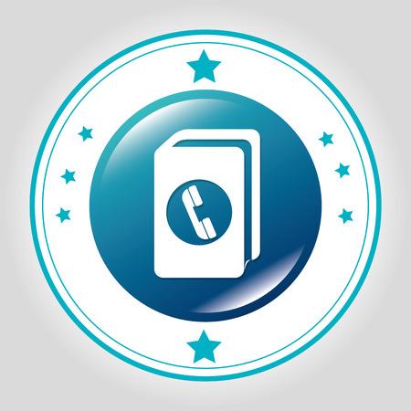 phonebook: Phonebook Line icon graphic design, vector illustration eps10 Illustration