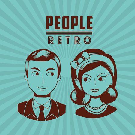 female symbol: retro icon design, vector illustration eps10 graphic Illustration