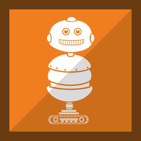 funny robot: Funny robot cartoon graphic design, vector illustration eps10