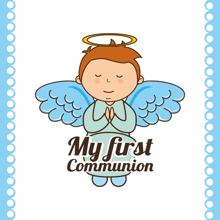 communion: my first communion design, vector illustration eps10 graphic