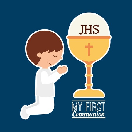 chalice: my first communion design, vector illustration eps10 graphic