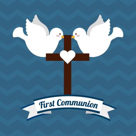 christening: my first communion design, vector illustration eps10 graphic