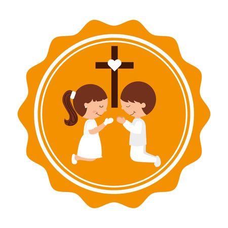 holy  symbol: mi primera comunión de diseño, ilustración vectorial gráfico eps10