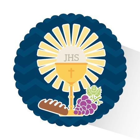 première communion: ma première conception de la communion, illustration graphique eps10