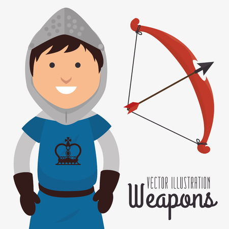 antiques: Old and antiques weapons graphic design, vector illustration