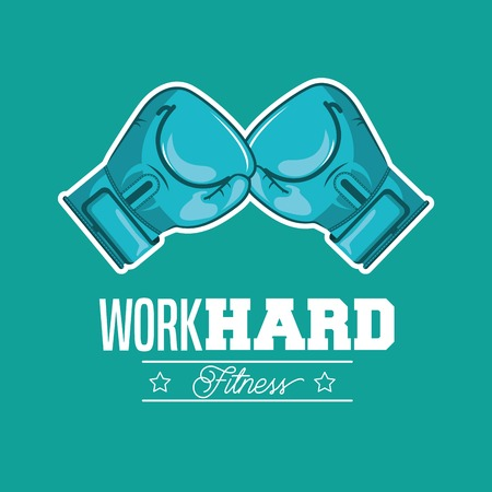 hard: work hard design, vector illustration eps10 graphic Illustration