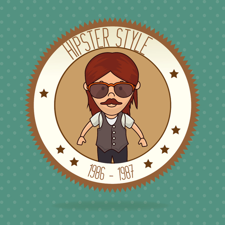 accesories: Hipster lifestyle and fashion accesories graphic design, vector illustration