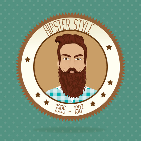 mister: Hipster lifestyle and fashion accesories graphic design, vector illustration