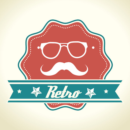 garment label: Hipster lifestyle and fashion accesories graphic design, vector illustration