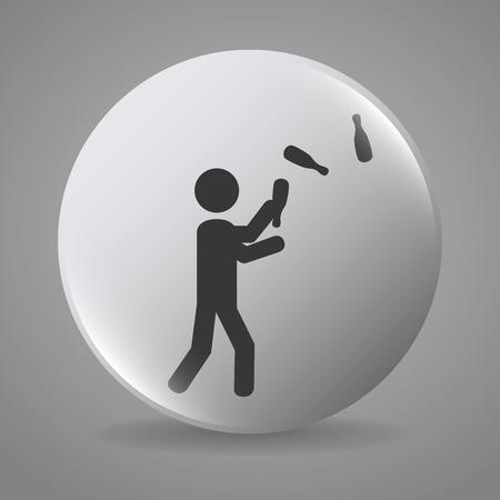 jugglery: Circus carnival entertainment graphic design, vector illustration eps10 Illustration