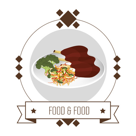 ailment: Gastronomy and restaurant menu graphic design, vector illustration eps10