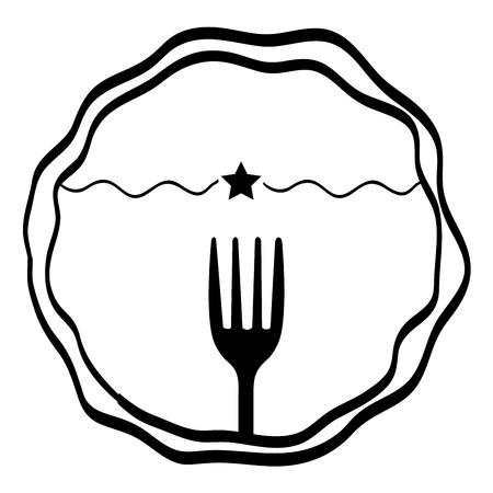 gastronomy: Gastronomy and restaurant menu graphic design, vector illustration eps10