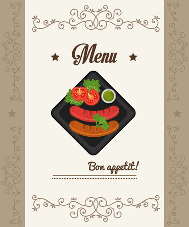 Gastronomy and restaurant menu graphic design, vector illustration eps10