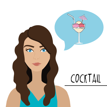 night life: Cokctail night life graphic design, vector illustration Illustration