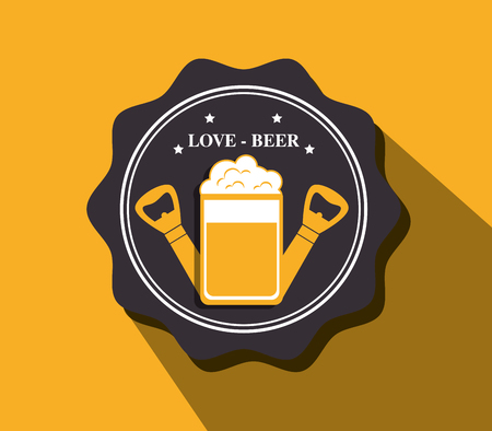 nutriments: Cold and delicious beer graphic design, vector illustration