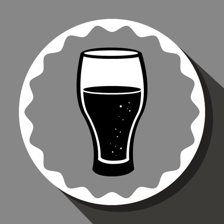 needed: Cold and delicious beer graphic design, vector illustration