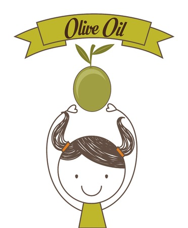virgin girl: olive oil design, vector illustration eps10 graphic