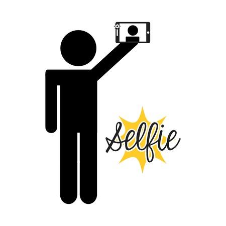 self: selfie concept design, vector illustration eps10 graphic Illustration