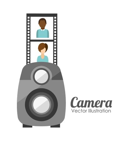 camera film: camera film design, vector illustration eps10 graphic