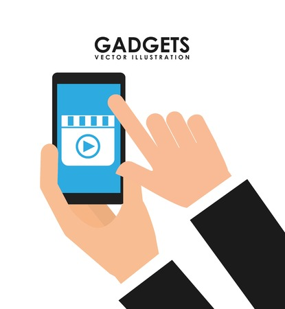 gadget: gadget technology design, vector illustration eps10 graphic Illustration