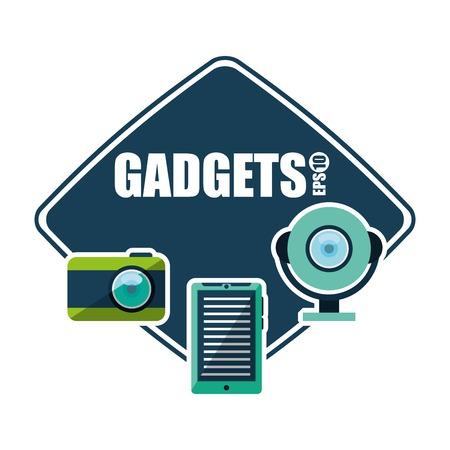 gadget: gadget technology design, vector illustration