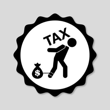 reckoning: tax day design, vector illustration eps10 graphic