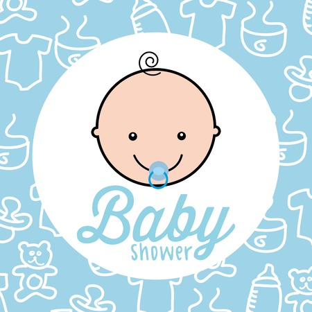 Baby-Dusche-Design, Vektor-Illustration eps10 Grafik Standard-Bild - 49683894