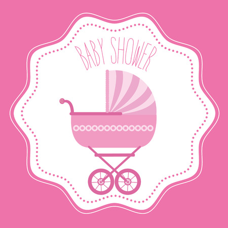 invite congratulate: Baby shower celebration graphic design, vector illustration