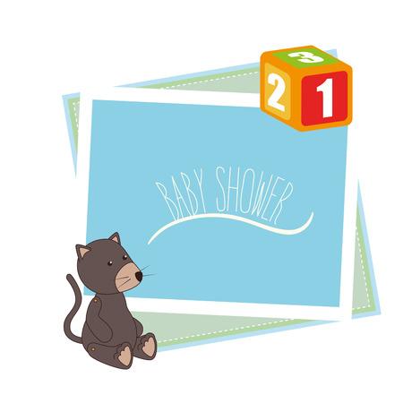 invite congratulate: Baby shower celebration graphic design, vector illustration