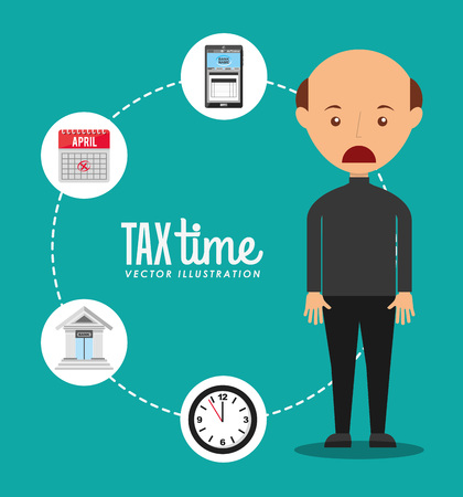 tax time: tax time design, vector illustration eps10 graphic Illustration