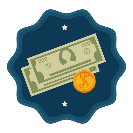 incomes: Bank and money savings graphic design, vector illustration