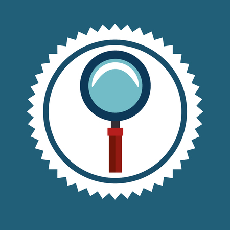 lupe: Magnifying glass or lupe graphic design, vector illustration