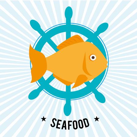 gastronomy: Sea food gastronomy graphic design, vector illustration eps10 Illustration