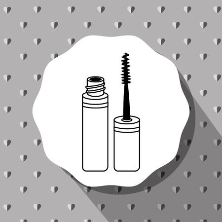 femininity: Make-up and womens cosmetics graphic design, vector illustration eps10 Illustration
