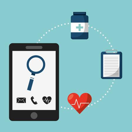 hospital background: health care design, vector illustration eps10 graphic Illustration