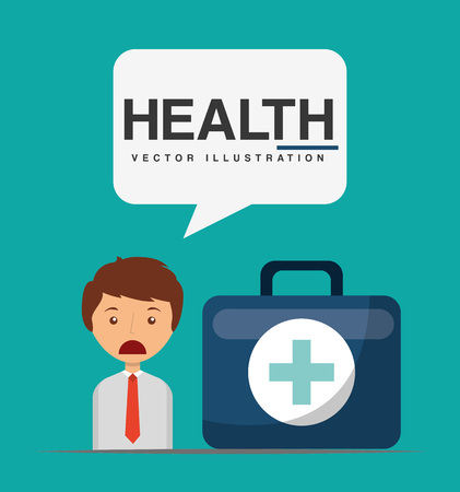 healthcare workers: health care design, vector illustration eps10 graphic Illustration