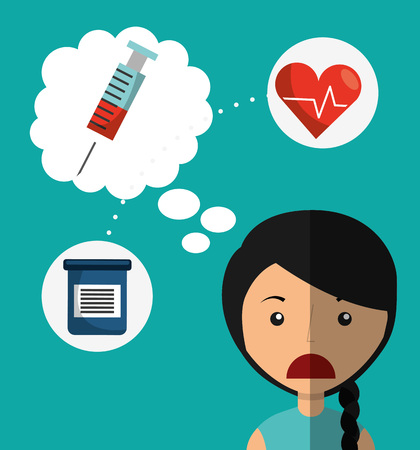 healthcare worker: health care design, vector illustration eps10 graphic Illustration