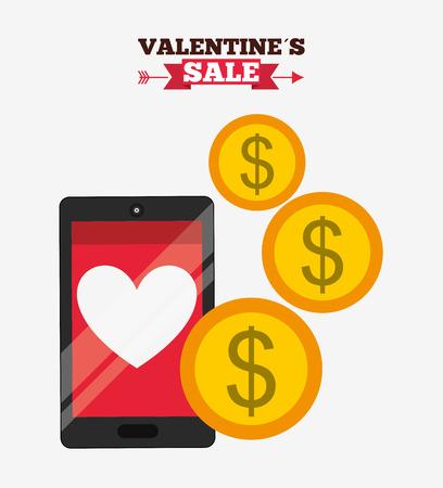fiestas electronicas: valentines sale design, vector illustration eps10 graphic Vectores