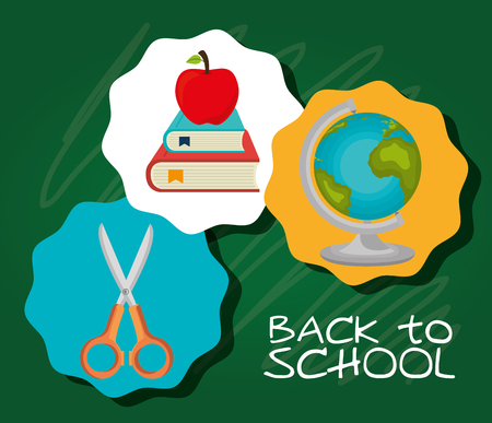 world class: Back to school season, vector illustration graphic design