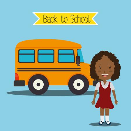 gir: Back to school season, vector illustration graphic design